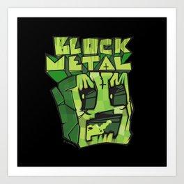 BLOCK METAL \m/ Art Print