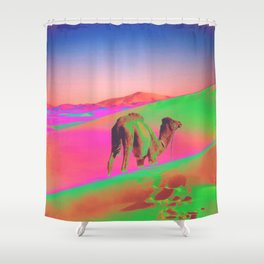 Psychedelic Sand Dunes 2 - Rainbow Shower Curtain