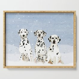 Dalmatians in the Snow Serving Tray