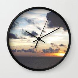 Sunset Over Pamlico Sound, Rodanthe, NC Wall Clock