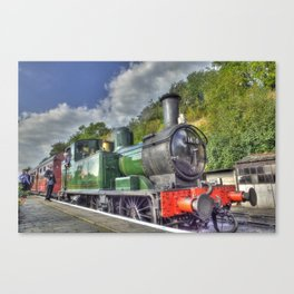 Steam Train at Bewdley Canvas Print