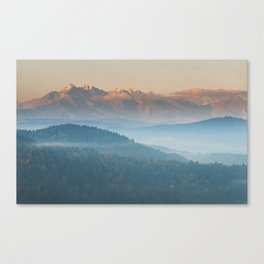 The mountains are calling #sunset Canvas Print