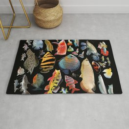 Freshwater tropical fish Rug