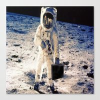 lawyer Canvas Prints featuring Astronaut lawyer  by Life.png