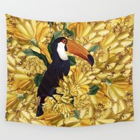 toucan Wall Tapestries featuring TOUCAN IV by DIVIDUS