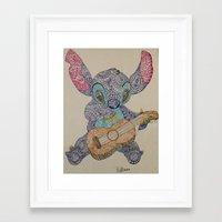 stitch Framed Art Prints featuring Stitch by Julia