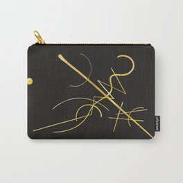 Kandinsky - Black and Gold Carry-All Pouch