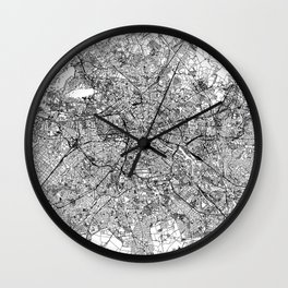 Berlin White Map Wall Clock