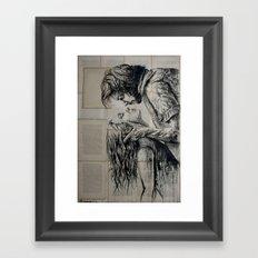The fury of love Framed Art Print