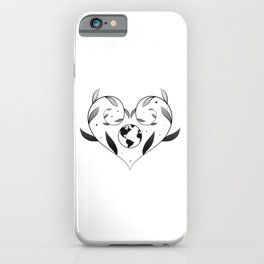 Nature lovingly embracing planet earth  iPhone Case