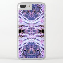 Neon Mirrored Trees 10 Clear iPhone Case