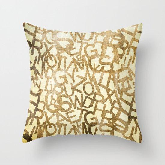 Din pattern Throw Pillow