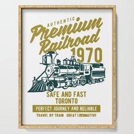 premium railroad Serving Tray