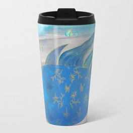 Flying Fish in Sea of Clouds with Sleeping Child Travel Mug