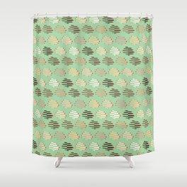 United Women Folding Hands in Mint Shower Curtain