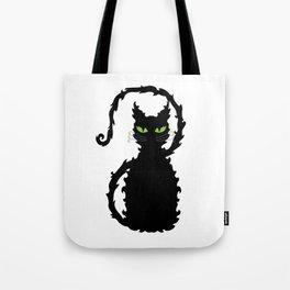 Halloween Black Cat Tote Bag