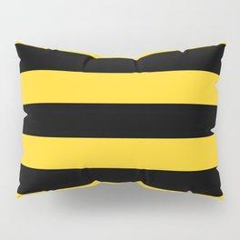 Yellow and Black Honey Bee Horizontal Cabana Tent Stripes Pillow Sham