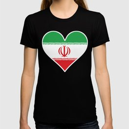 Iranian Flag Heart T-shirt