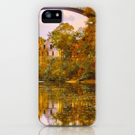 Fall at Upper Falls, Massachusetts.  Echo Bridge iPhone Case