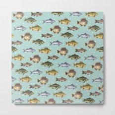 Watercolor Fish Metal Print