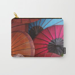 Paper Colored Umbrellas from Laos Carry-All Pouch