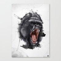 gorilla Canvas Prints featuring Gorilla by Arnaud Gomet