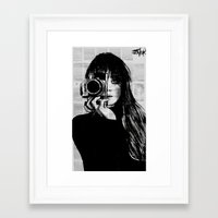 Framed Art Prints featuring lens by LouiJoverArt