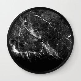 Black Gray Marble #1 #decor #art #society6 Wall Clock