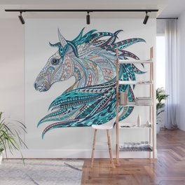 Horse Design Wall Mural