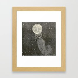 AROUND THE MOON - EMILE-ANTOINE BAYARD Framed Art Print