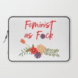 Feminist as F*ck (Censored Version) Laptop Sleeve