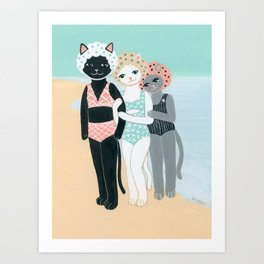 Summer Cats Art Print