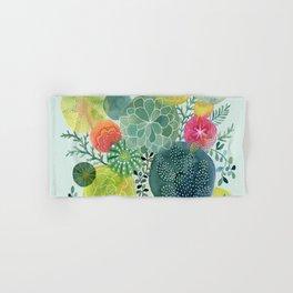 Succulent Circles Hand & Bath Towel
