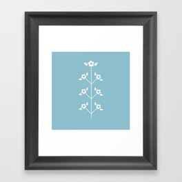 Blue Sprig Framed Art Print