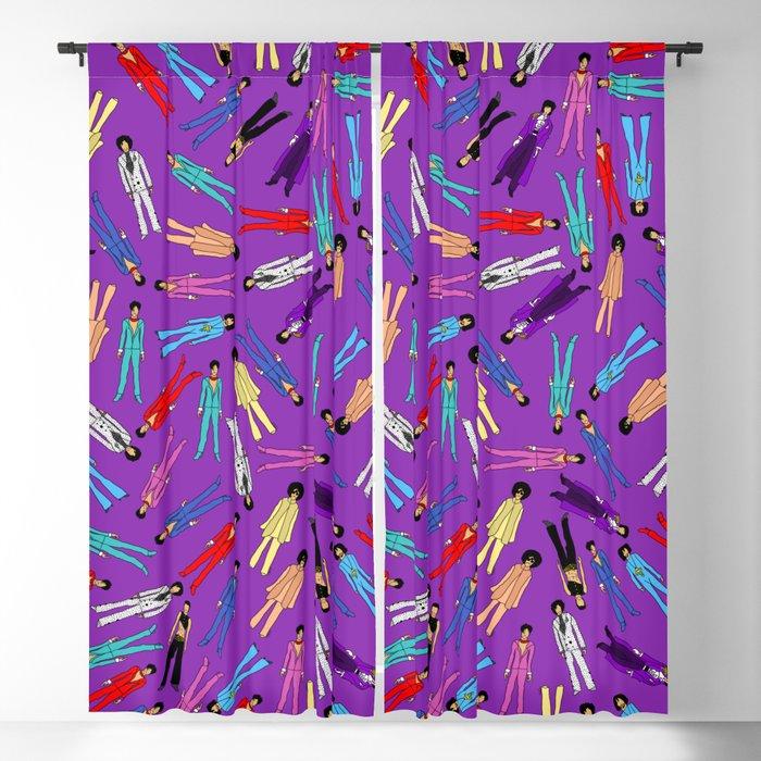Purple Pattern 2 Blackout Curtain