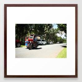 Tricycle on the Road Framed Art Print