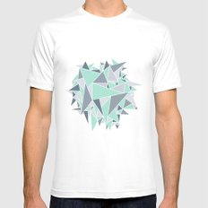 EXPLOSION-TRIANGLE White MEDIUM Mens Fitted Tee