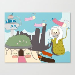 Tales From Singapore Canvas Print