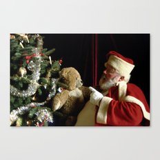 Teddy Talk Canvas Print