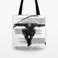 ninja Tote Bags featuring ninja  by jun salazar