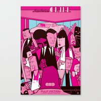 pulp fiction Canvas Prints featuring Pulp Fiction by Ale Giorgini
