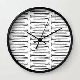 Silver Screws Texture Poster Wall Clock