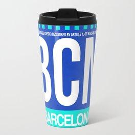 BCN Barcelona Luggage Tag 2 Travel Mug