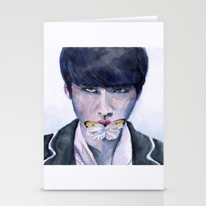 SUGA: BUTTERFLY Stationery Cards