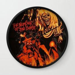 iron maiden album 2021 katrin11 Wall Clock