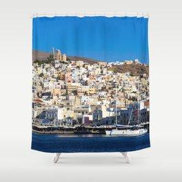 Syros Island Shower Curtain