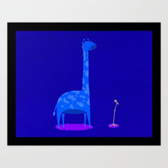 Too Tall To Talk Art Print