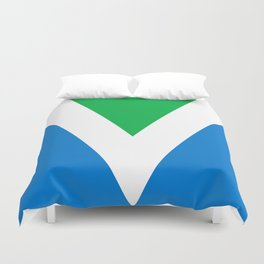 Official Vegan Flag Duvet Cover