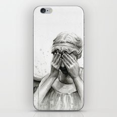 Weeping Angel Watercolor Painting iPhone & iPod Skin