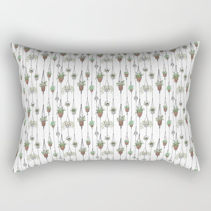 Hanging Plants Rectangular Pillow